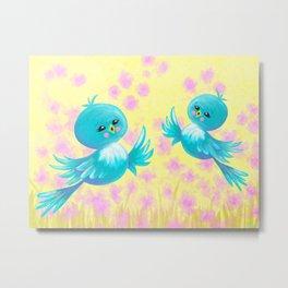 Bluebirds On My Mind Metal Print