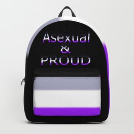 Asexual and Proud (black bg) Backpack