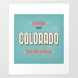 Greeting From Colorado United States Of America Art Print