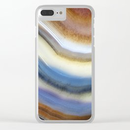 Colorful layered agate 2075 Clear iPhone Case