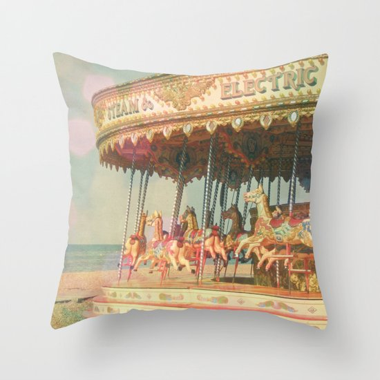 Circling Horses Throw Pillow