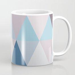 Mauve Blue Triangles Coffee Mug
