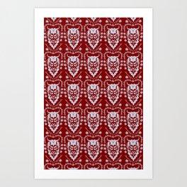 Krampus Red Art Print
