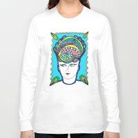 headdress Long Sleeve T-shirts featuring Headdress by G.L.BEANS