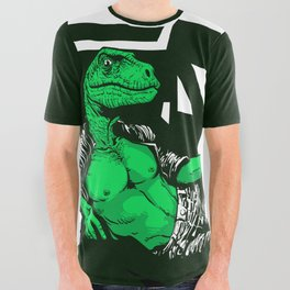 Amphibian DNA - Dienonychus - Black Shirt All Over Graphic Tee