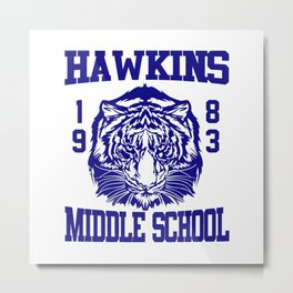 hawkins middle school Metal Print