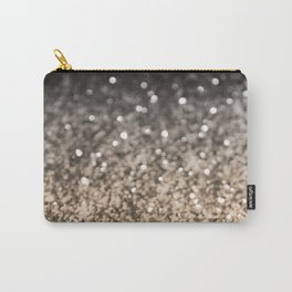 Sparkling GOLD BLACK Lady Glitter #2 #decor #art #society6 Carry-All Pouch