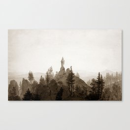 Statue of the Madonna in the Mountains Canvas Print