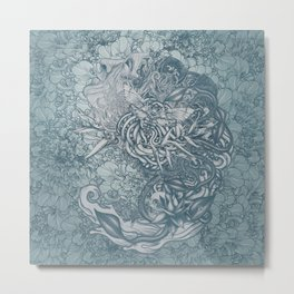 Fifth Mix Blue Metal Print