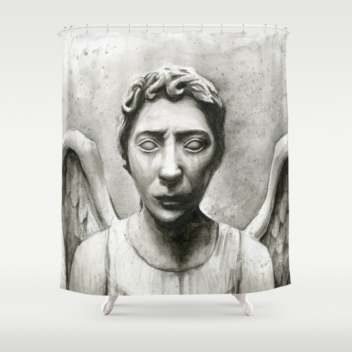 Weeping Angel Shower Curtain by olechka | Society6