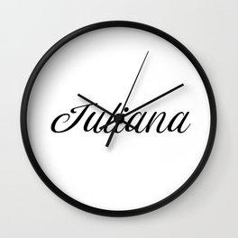 Name Juliana Wall Clock
