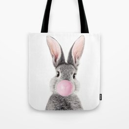 Bunny With Bubble Gum Tote Bag