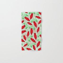 Red Hot Chilli Pepper Decorative Food Art Hand & Bath Towel
