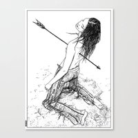 apollonia Canvas Prints featuring asc 156 - La flèche noire by From Apollonia with Love