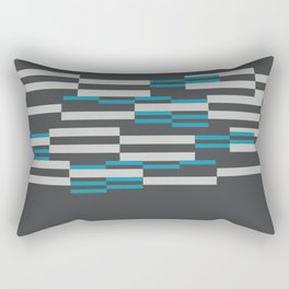 Rectangles Stripes grey background Rectangular Pillow