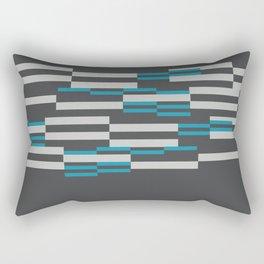 Rectangles Stripes grey background Rectangular Pillow