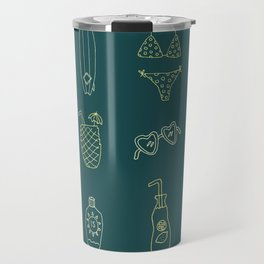 At the beach Travel Mug