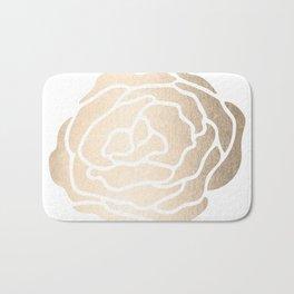 Rose White Gold Sands on White Bath Mat
