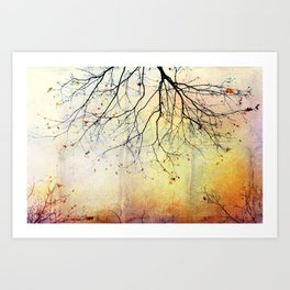 november gold Art Print