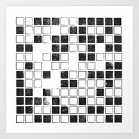 Square Grid Art Print