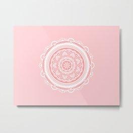 Mandala Meditation Metal Print
