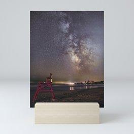 Lifeguard chair and the Milkyway Mini Art Print
