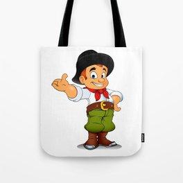 Gaucho cowboy cartoon Tote Bag