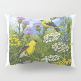 Goldfinches and Thistle Pillow Sham