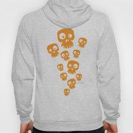 Fun Skulls - orange Hoody