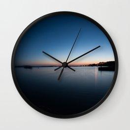 Dusk at sea Wall Clock