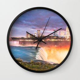 Niagara Falls: The Flow Aglow Wall Clock