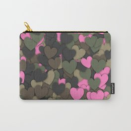 Hearts camouflage Carry-All Pouch