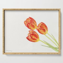 Tulips Watercolor Serving Tray