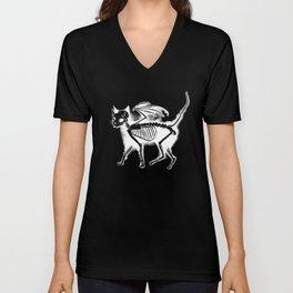 Devil Kitty - inverted Unisex V-Neck