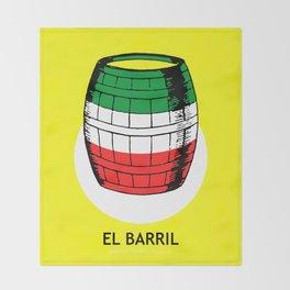El Barril Mexican Loteria Card Throw Blanket