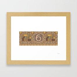 6 Avenue Framed Art Print