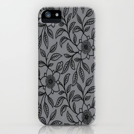 Vintage Lace Floral Sharkskin iPhone Case