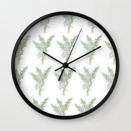 Flowering Rosemary Wall Clock
