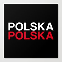 poland Canvas Prints featuring POLAND by eyesblau