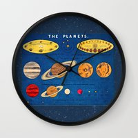 sagan Wall Clocks featuring In consideration of the shoulders of giants.  by anipani