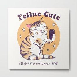 Feline Cute Challenge Metal Print