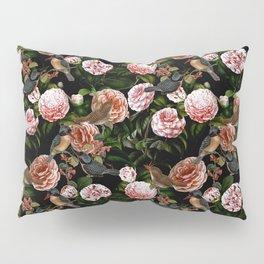 Vintage & Shabby Chic - Blush Camellia & Kingfishers Pillow Sham