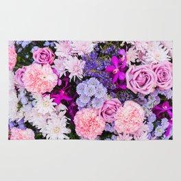 Pink Purple Flowers x Ultraviolet Rug