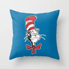 The Grumpy Hat Throw Pillow