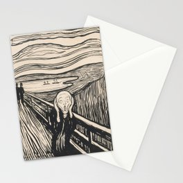 The Scream (1895) by Edvard Munch Stationery Cards