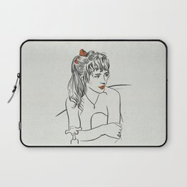 Marianne with Red Bow Laptop Sleeve