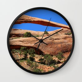 Amazing Landscape Arch - Panorama Wall Clock