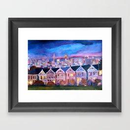 San Francisco - Painted Ladies - Alamo Sq  Framed Art Print