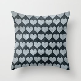 Rustic Hearts Throw Pillow