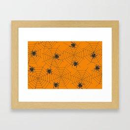 Halloween Spider Illustration Framed Art Print
